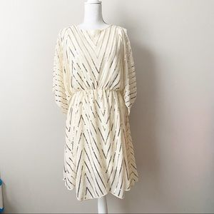 Main Strip Boutique Gold Sequin and Beaded Dress